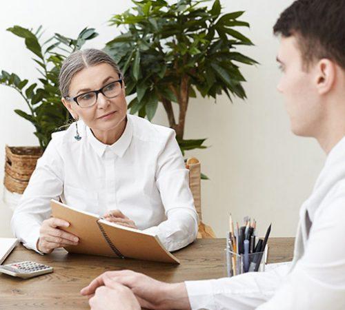 Businesswoman Giving Mentor
